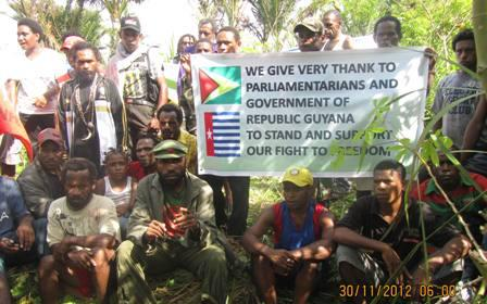 West Papuans send a message of thanks to the Government of Guyana